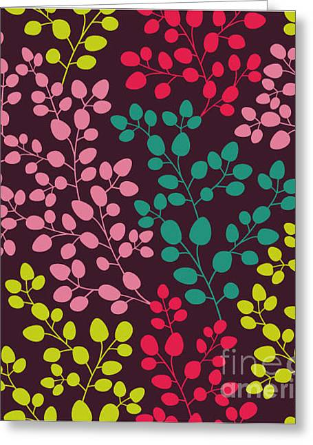 Abstract Seamless Pattern With Colored Greeting Card