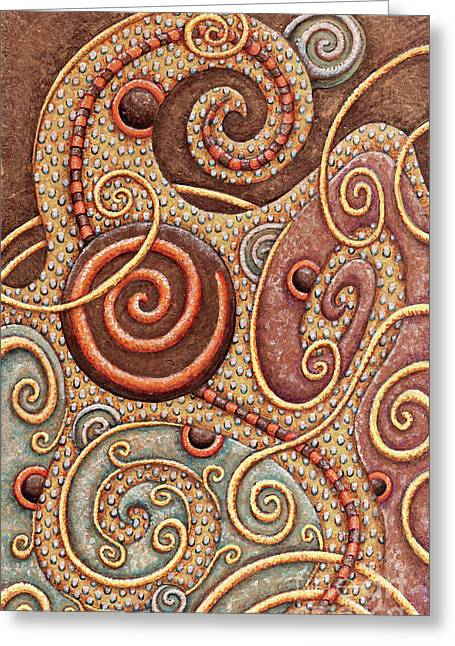 Abstract Spiral 1 Greeting Card