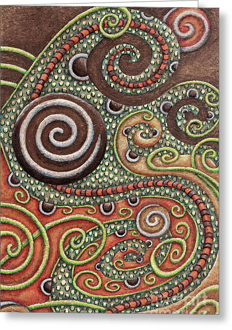 Abstract Spiral 10 Greeting Card