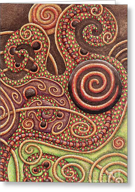 Abstract Spiral 11 Greeting Card