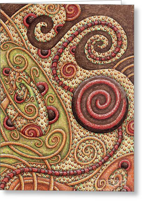 Abstract Spiral 4 Greeting Card