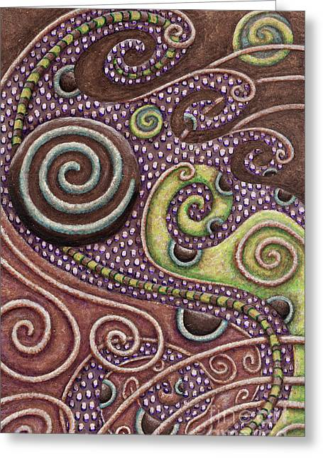 Abstract Spiral 7 Greeting Card