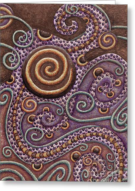 Abstract Spiral 8 Greeting Card