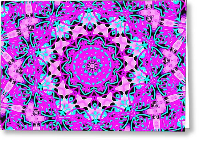 Abstract Spun Flower Greeting Card