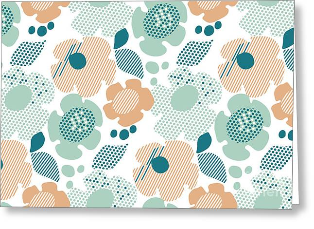 Abstract Stylized Floral. Abstract Pale Greeting Card