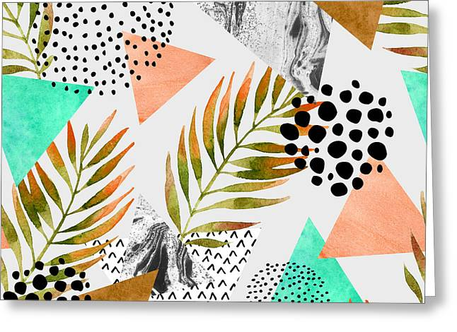 Abstract Summer Geometric Seamless Greeting Card