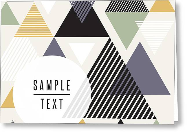 Abstract Triangle Design With Text Greeting Card
