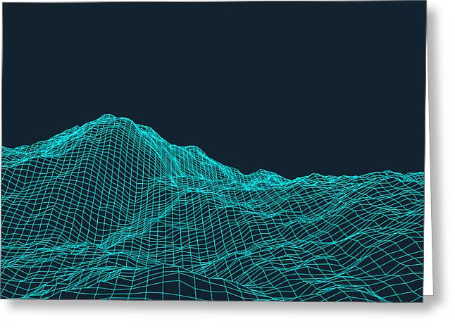 Abstract Vector Landscape Background Greeting Card