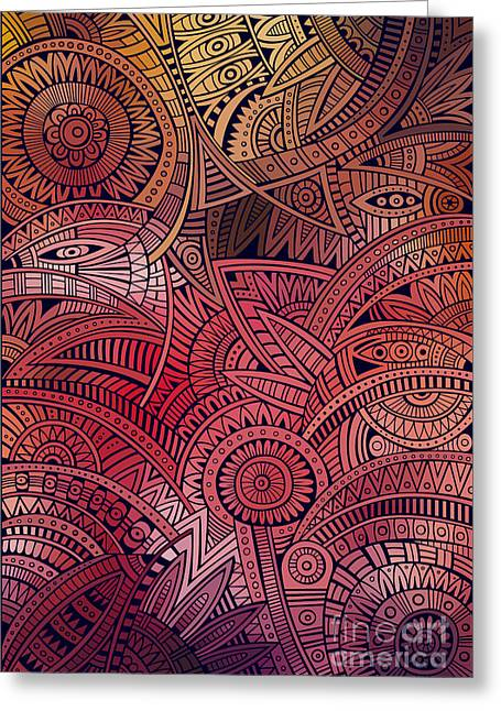Abstract Vector Tribal Ethnic Greeting Card