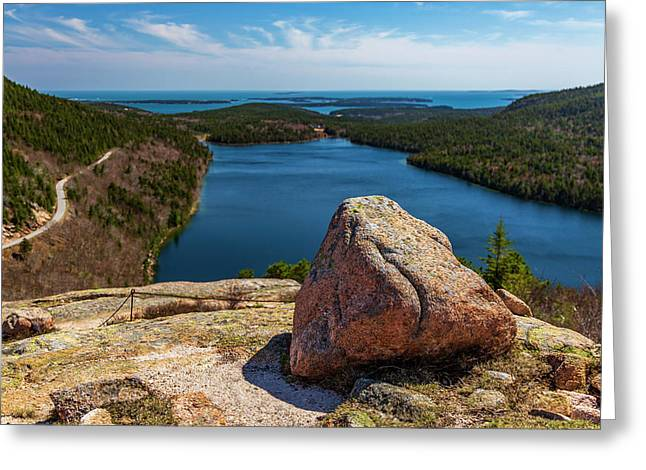 Acadia Np - Peaceful Vista Greeting Card