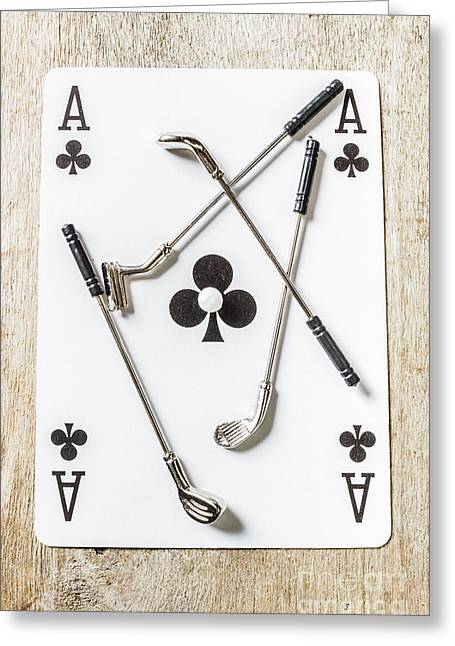 Ace Of Clubs Greeting Card