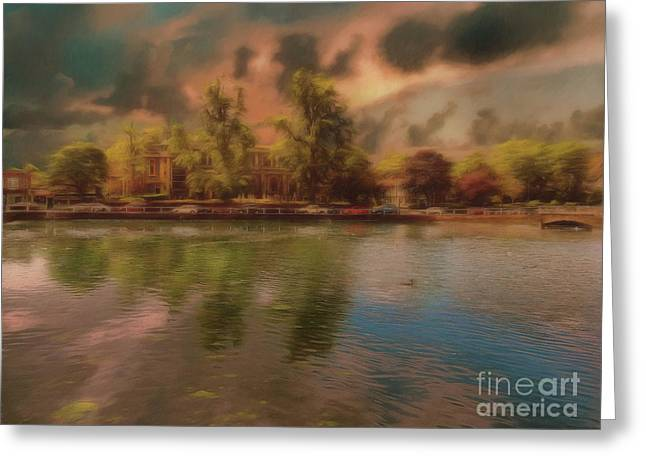 Greeting Card featuring the photograph Across The Water by Leigh Kemp