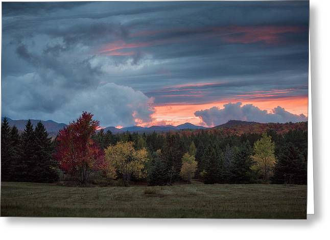 Adirondack Loj Road Sunset Greeting Card