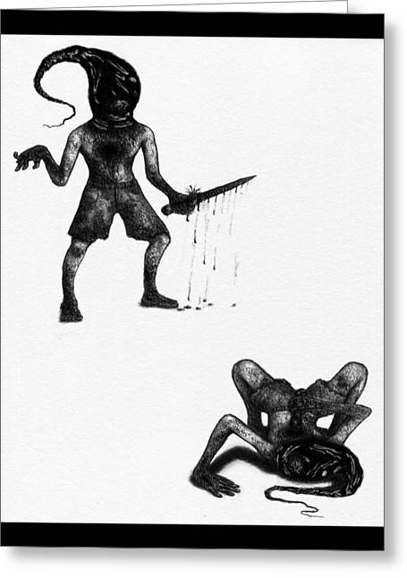 Adriano The Darkstalker - Artwork Greeting Card