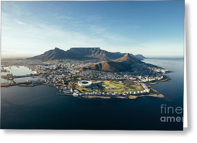 Aerial Coastal View Of Cape Town. View Greeting Card