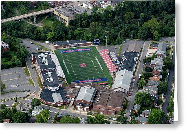 Aerial Of Mhs Football Field And School Greeting Card