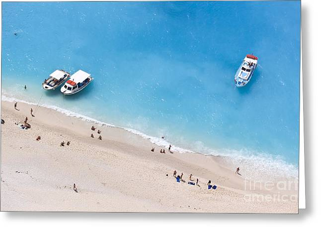 Aerial View Of A Beach With Some Greeting Card