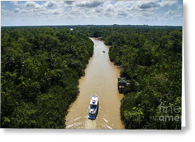 Aerial View Of Amazon River In Belem Do Greeting Card