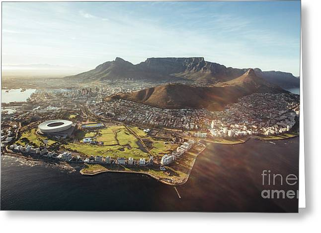 Aerial View Of Cape Town With Cape Town Greeting Card