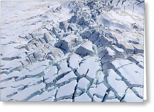 Aerial View Of Franz Josef Glacier From Greeting Card
