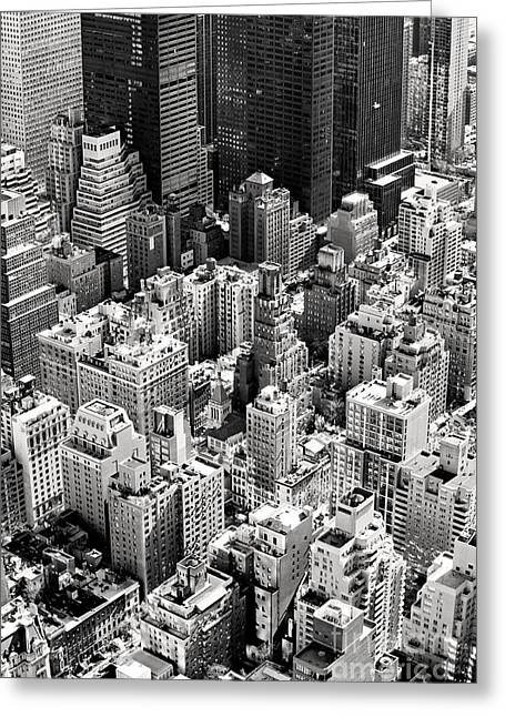 Aerial View Of Manhattan, New York Greeting Card