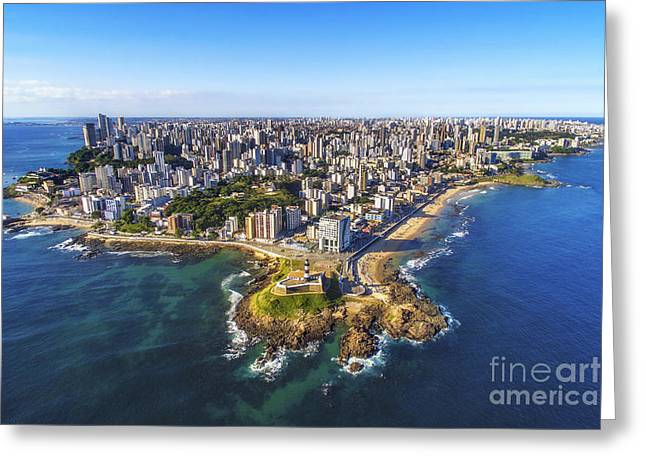 Aerial View Of Salvador Da Bahia Greeting Card