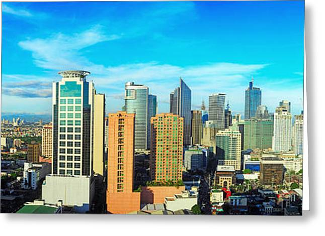 Aerial View On Makati City - Modern Greeting Card