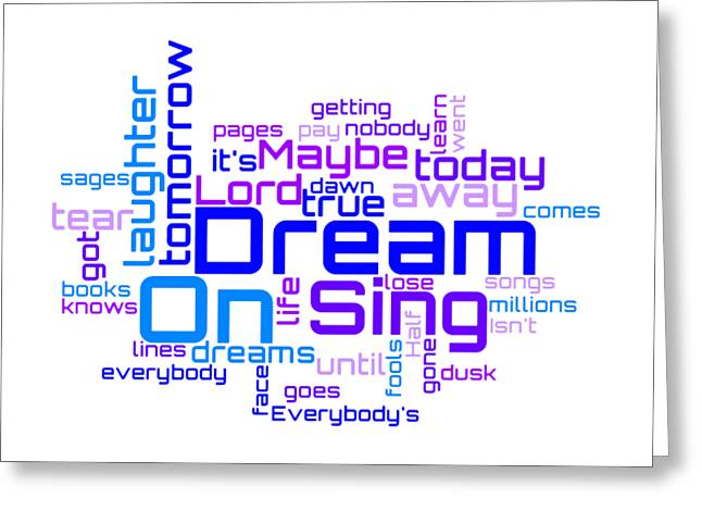 Aerosmith - Dream On Lyrical Cloud Greeting Card