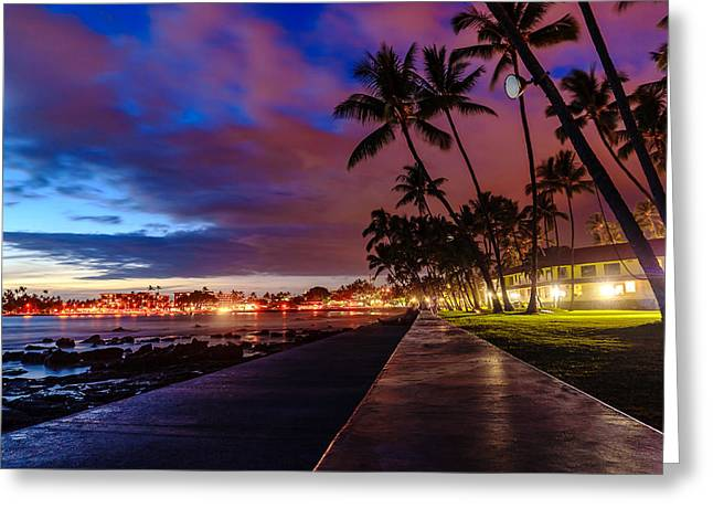 After Sunset At Kona Inn Greeting Card