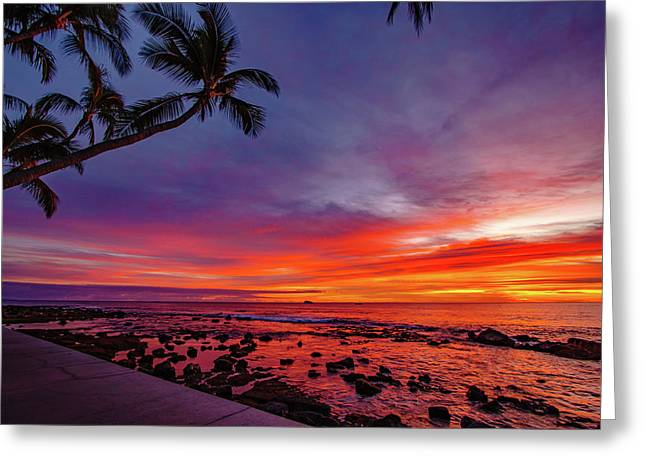 After Sunset Vibrance Greeting Card
