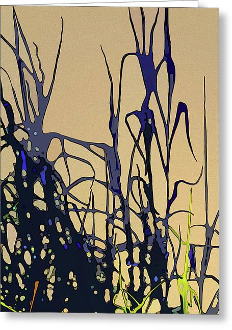 Greeting Card featuring the digital art Afternoon Shadows by Gina Harrison
