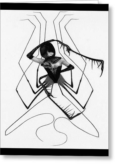 Aiko The Mistress Noir - Artwork Greeting Card