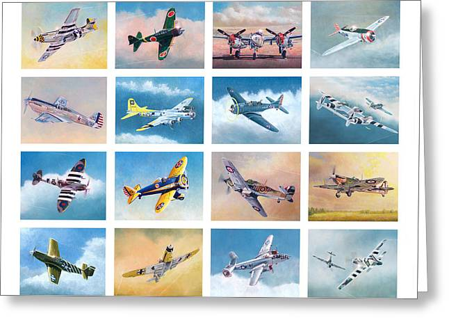 Airplane Poster Greeting Card