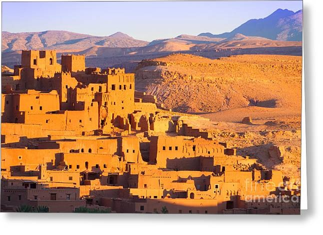 Ait Benhaddou,fortified City, Kasbah Or Greeting Card