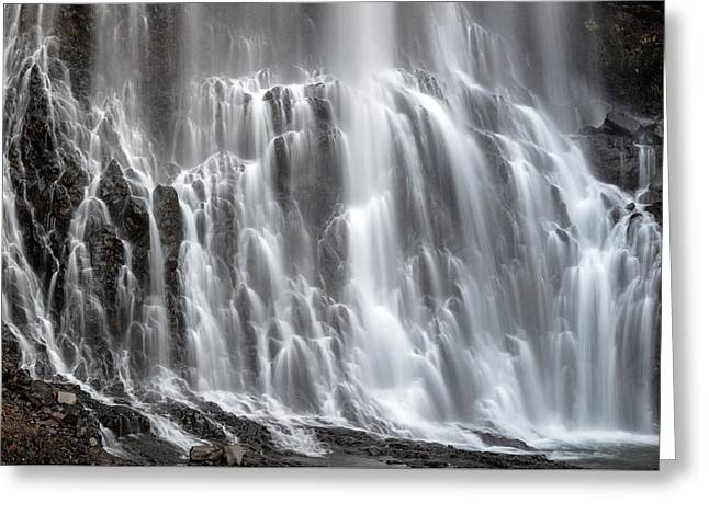 Greeting Card featuring the photograph Alexander Falls Close Up by Pierre Leclerc Photography