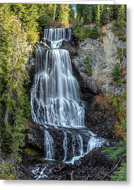 Greeting Card featuring the photograph Alexander Falls Of The Callaghan Valley by Pierre Leclerc Photography