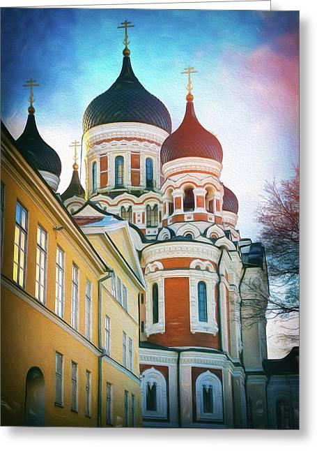 Alexander Nevsky Cathedral Tallinn Estonia  Greeting Card