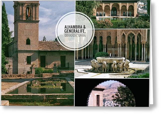 Alhambra And Generalife Greeting Card