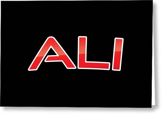 Ali Greeting Card