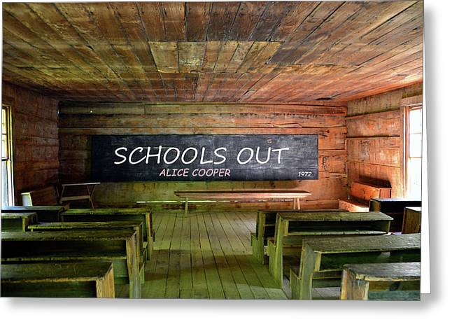 Alice Coopers Schools Out 1972 Greeting Card