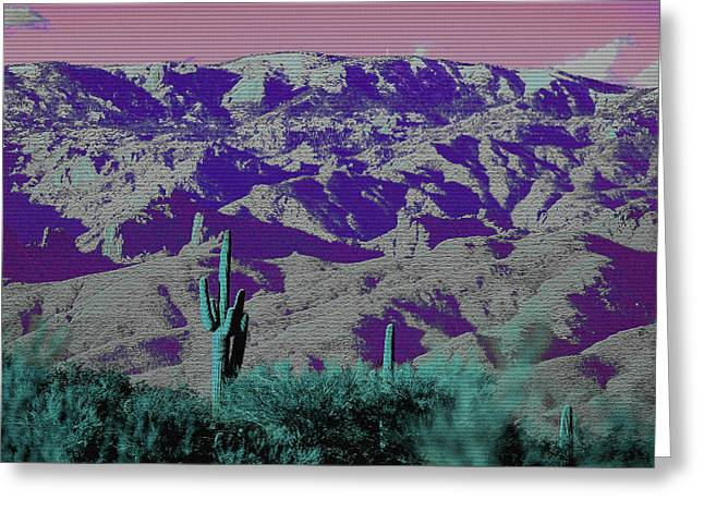 Alien Colors On Mount Lemmon Greeting Card
