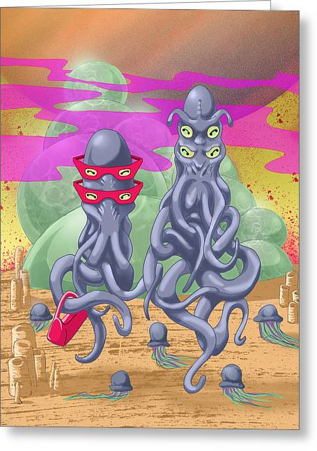 Alien Gothic Greeting Card