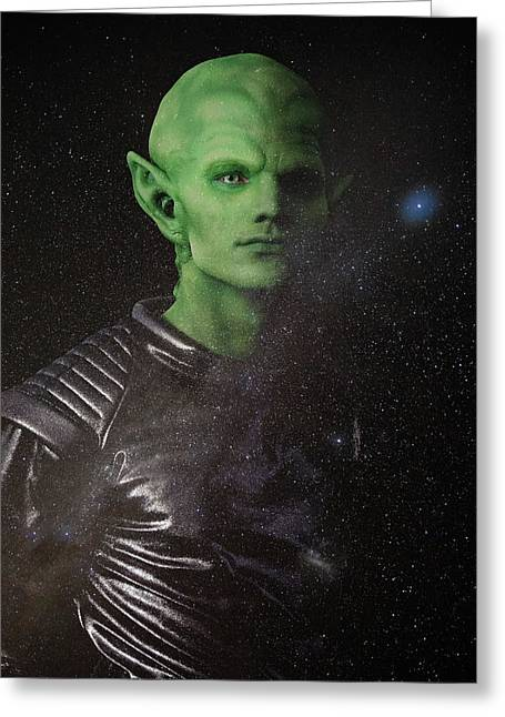 Greeting Card featuring the photograph Alien by Nicole Young