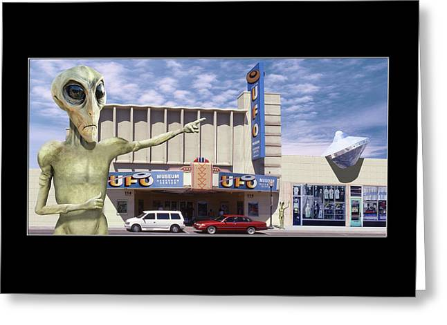 Alien Vacation - Roswell Greeting Card