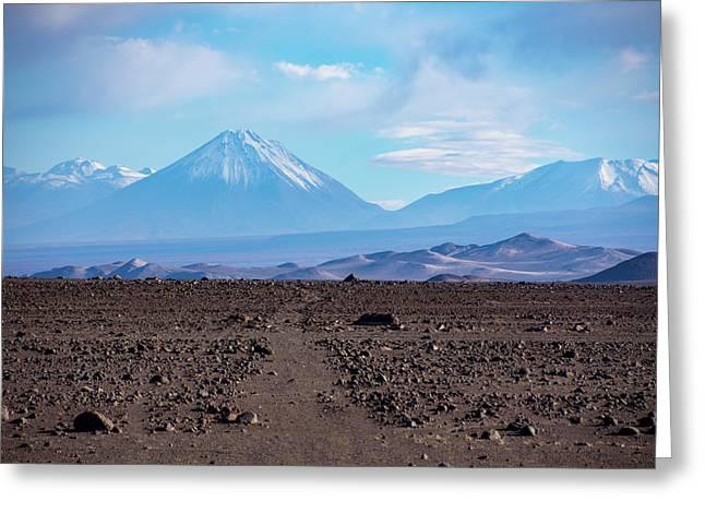 Along The Inca Trail In The Atacama Desert Greeting Card