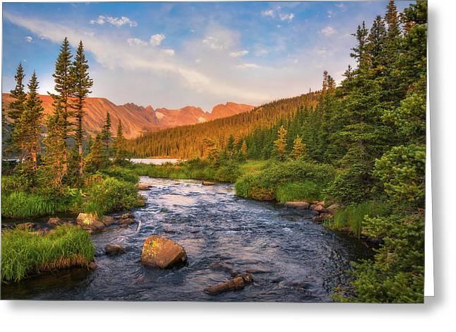 Alpenglow Creek Greeting Card