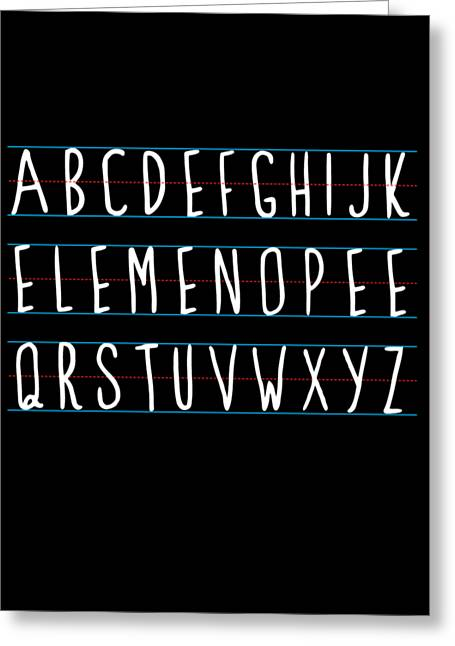 Alphabet Elemeno Greeting Card