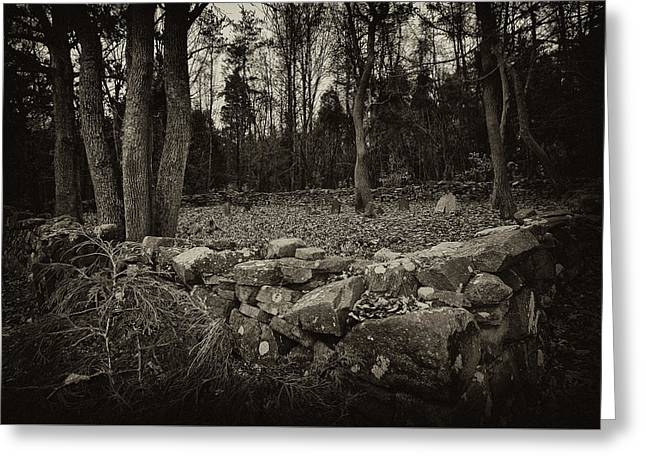 Greeting Card featuring the photograph Alpine Benders Cemetery by Mark Jordan