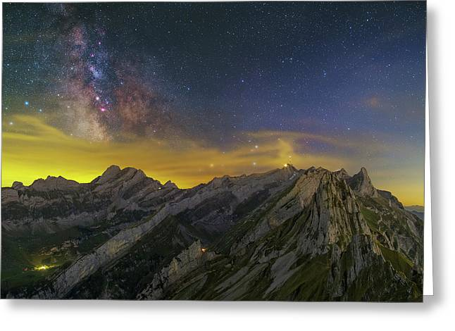 Alpstein Nights Greeting Card