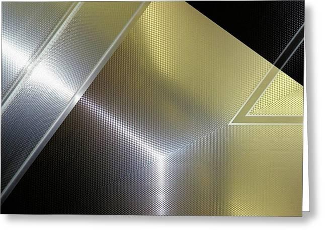 Aluminum Surface. Metallic Geometric Image.   Greeting Card